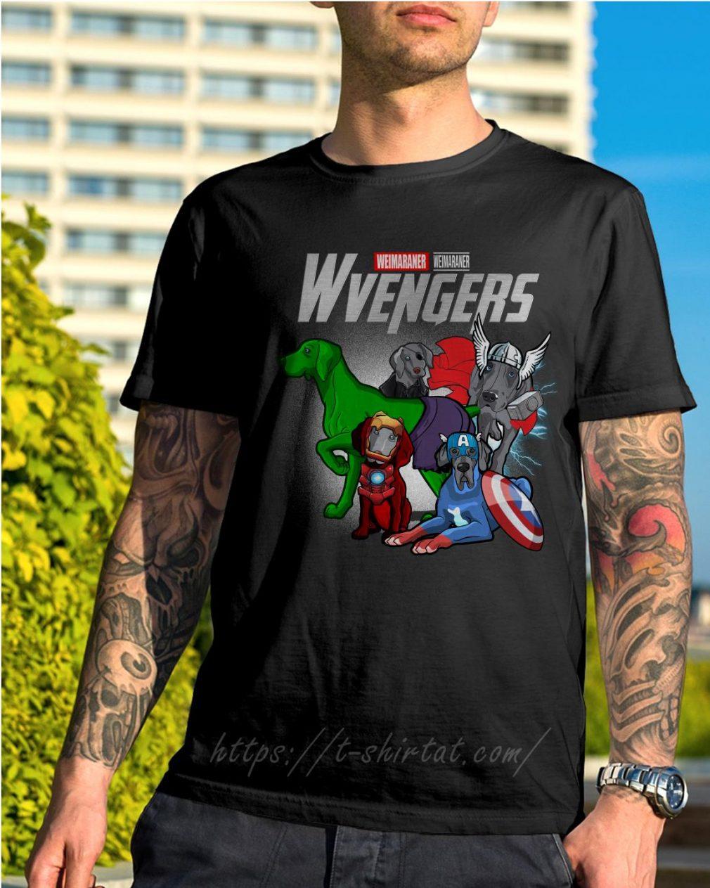 Marvel Weimaraner Wvengers shirt