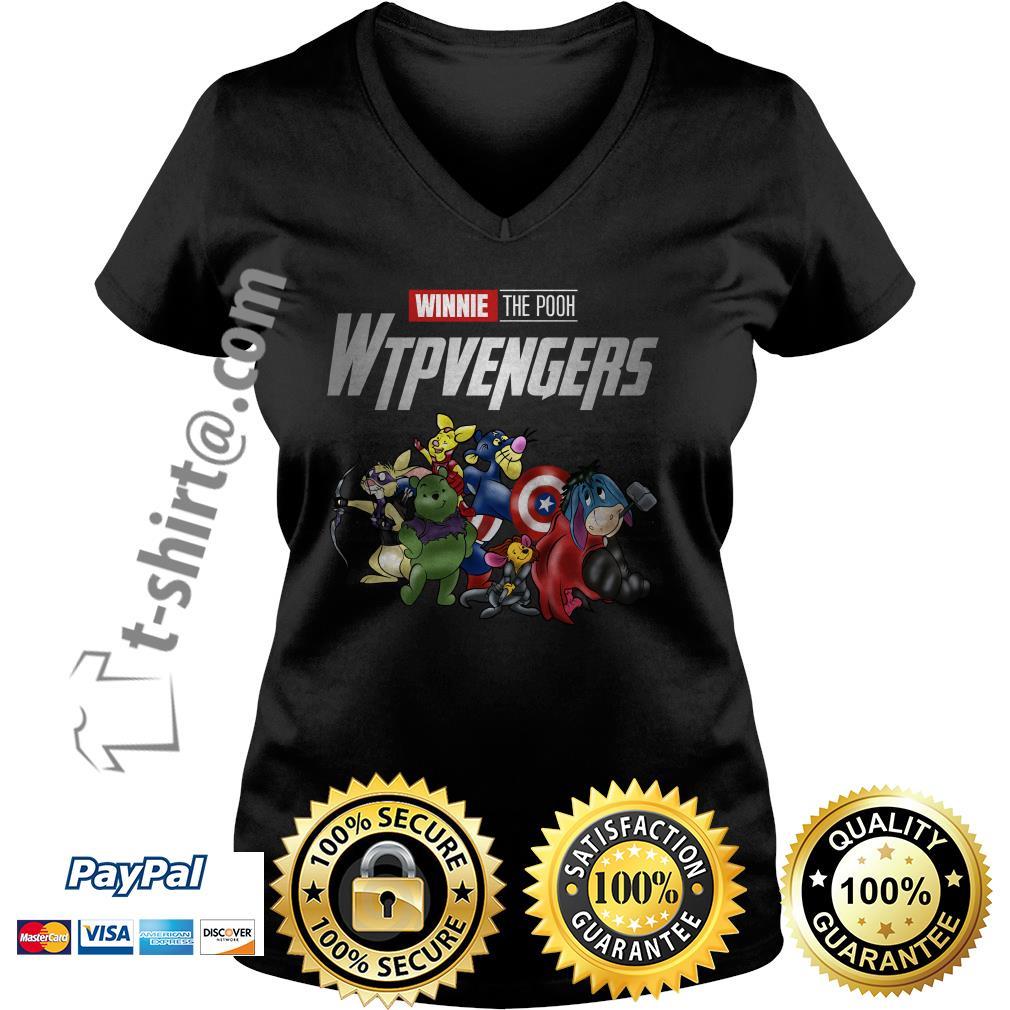 Marvel Winnie the Pooh Wtpvengers V-neck T-shirt