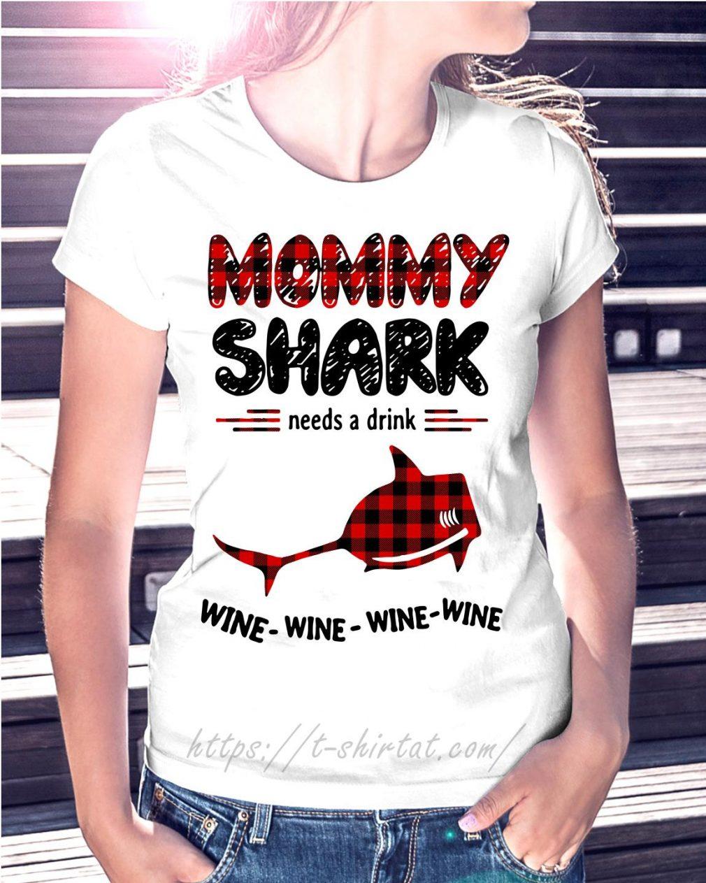 Mommy shark needs a drink wine wine wine wine