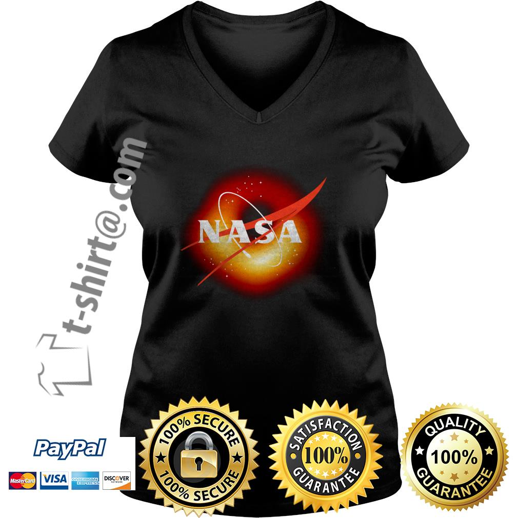 NASA first image of a black hole 2019 V-neck T-shirt