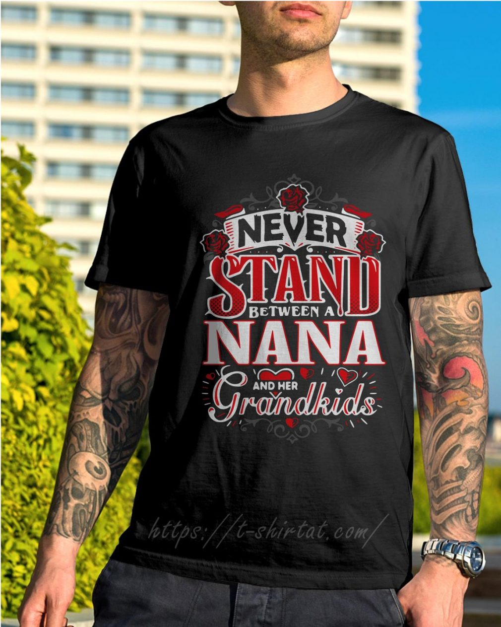 Never stand between a Nana and her grandkids shirtNever stand between a Nana and her grandkids shirt