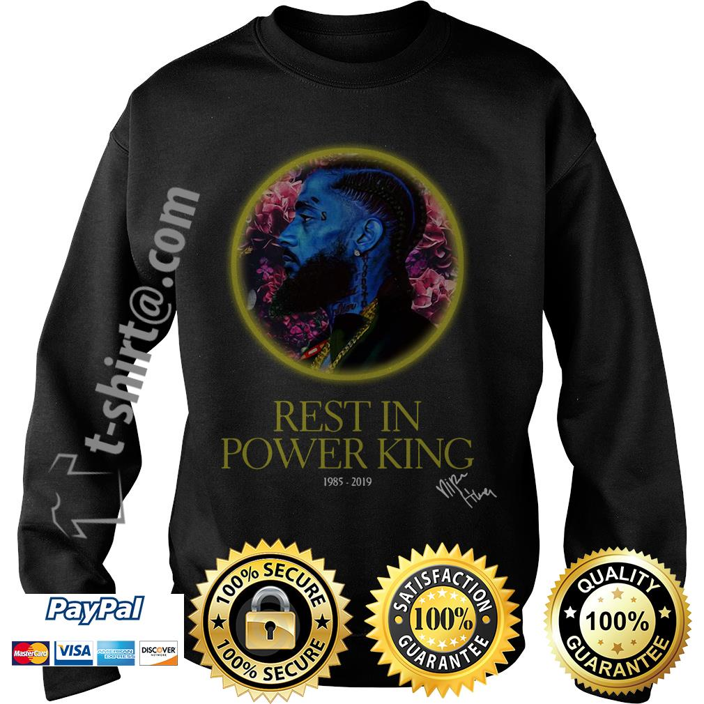 Nipsey Hussle rest in power king 1985-2019 signature Sweater