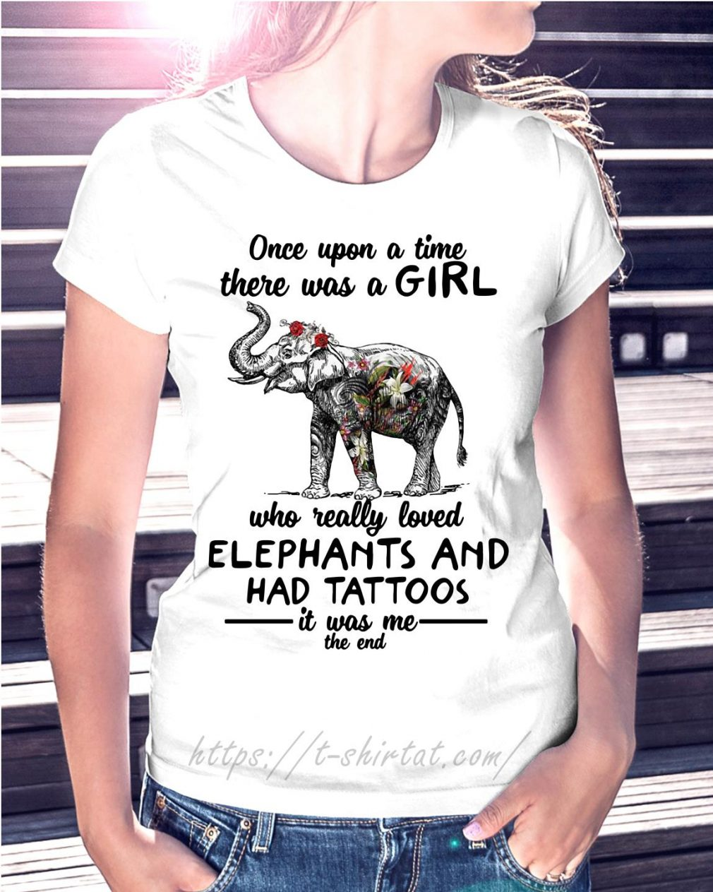 Once upon a time there was a girl who really loved elephants and had tattoos