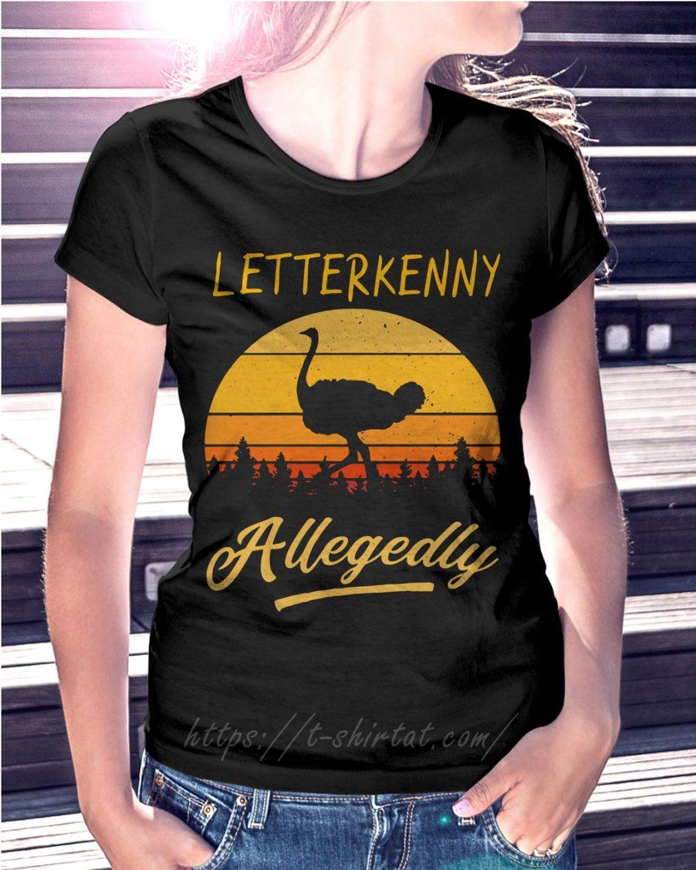 Ostrich Letterkenny allegedly retro poster