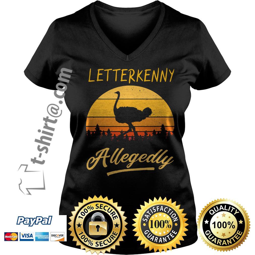 Ostrich Letterkenny allegedly retro V-neck T-shirt