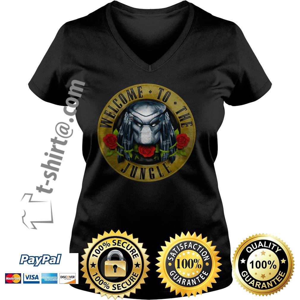 Predator welcome to the jungle V-neck T-shirt
