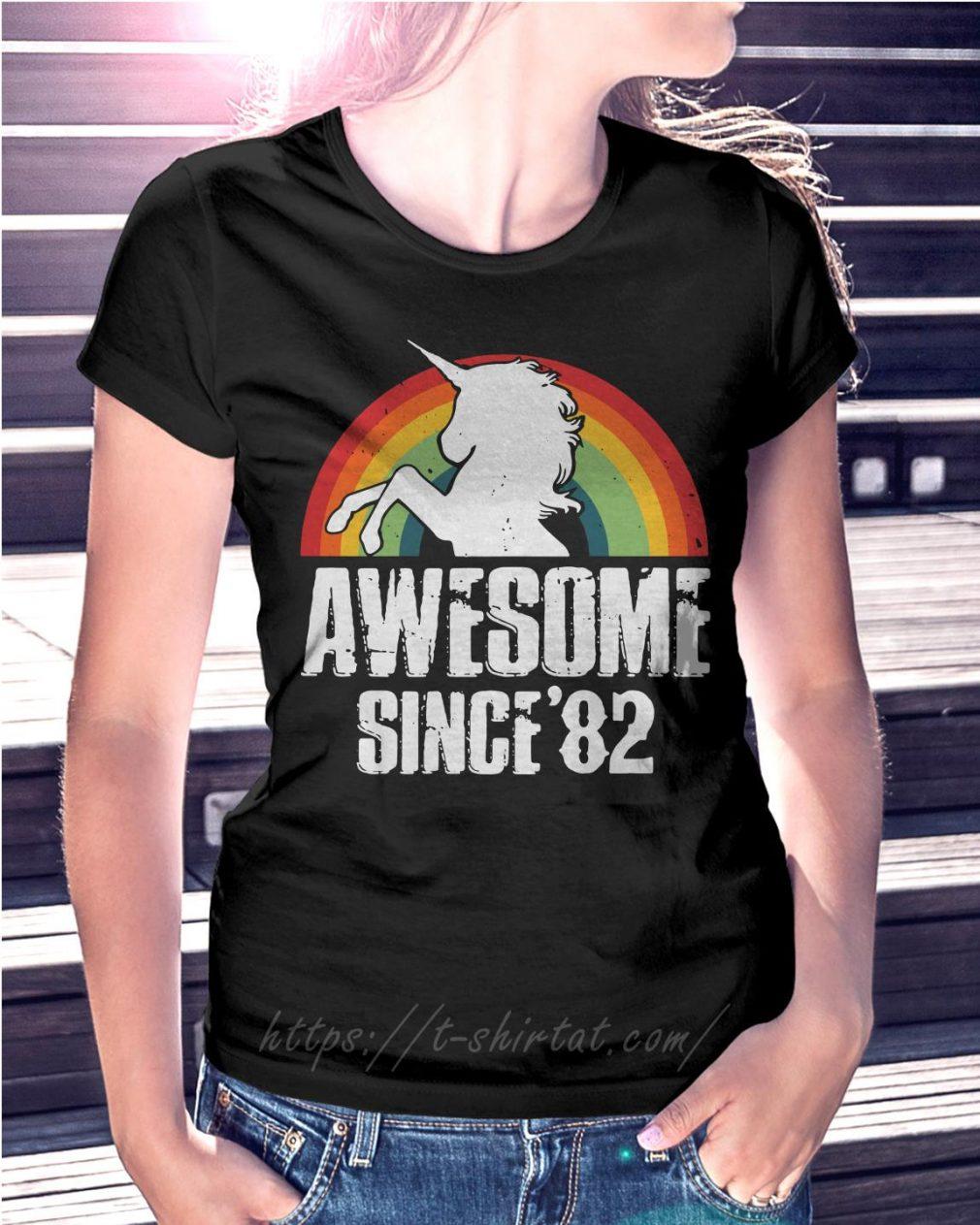 Rainbow Unicorn awesome since 1982 37th birthday