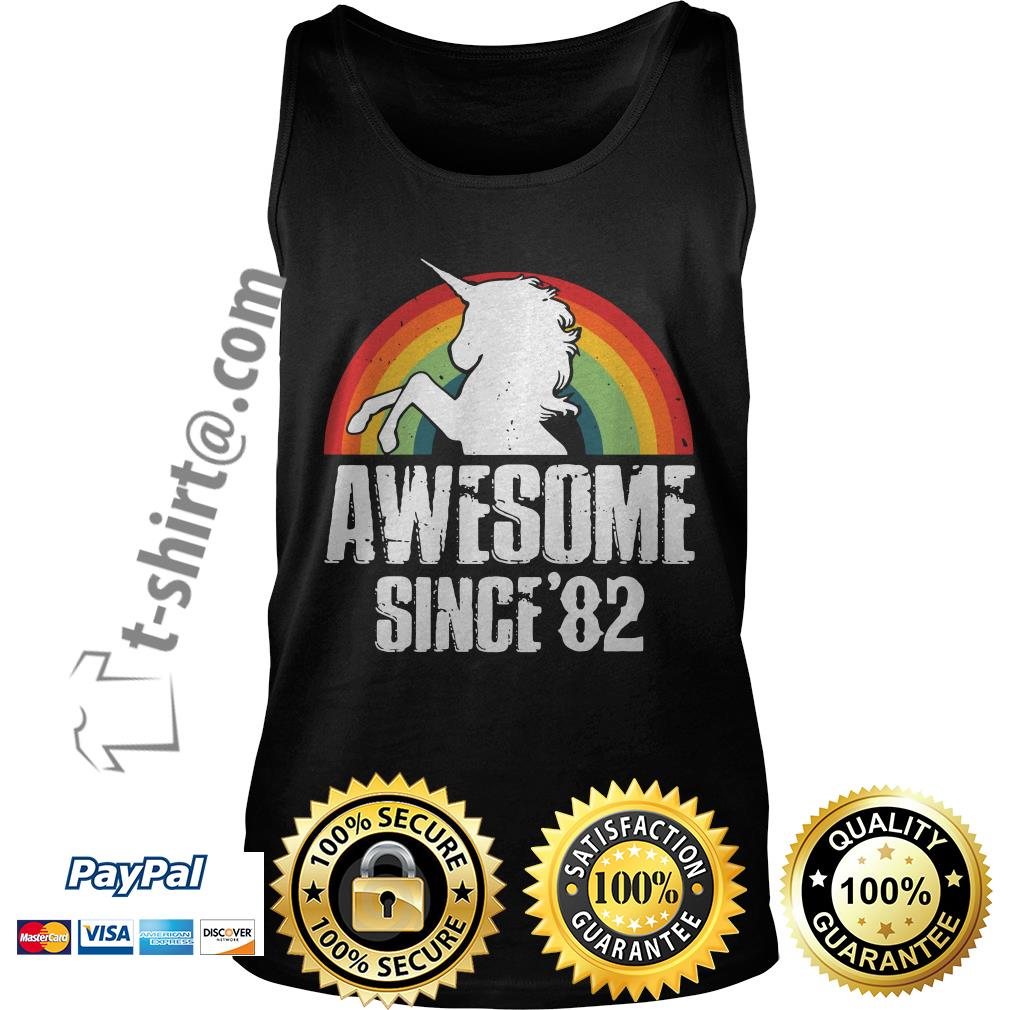 Rainbow Unicorn awesome since 1982 37th birthday  Tank top