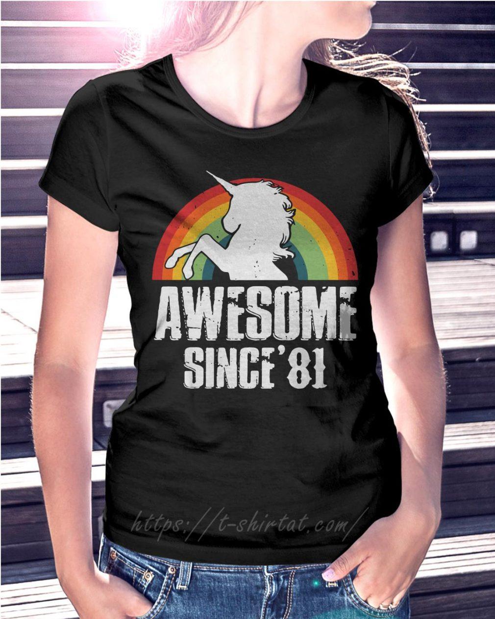 Rainbow Unicorn awesome since'81
