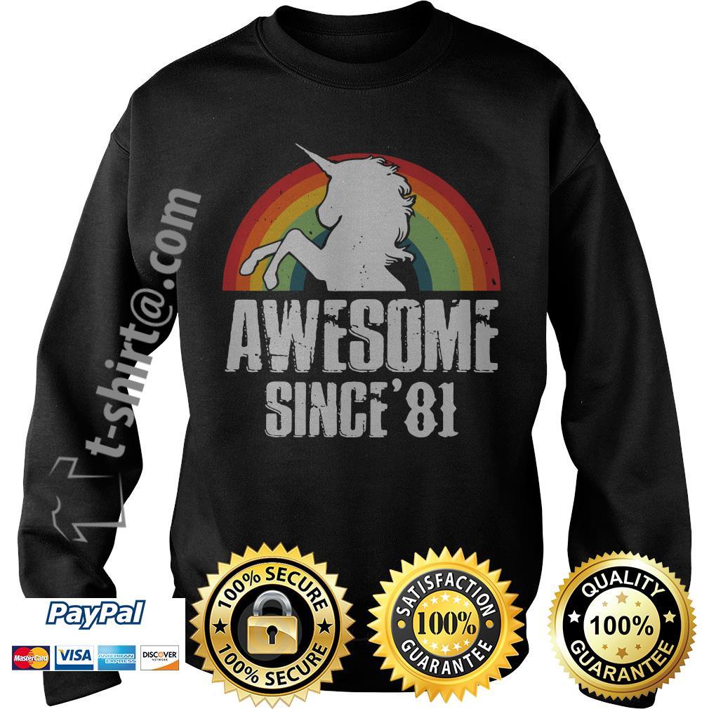 Rainbow Unicorn awesome since'81 Sweater