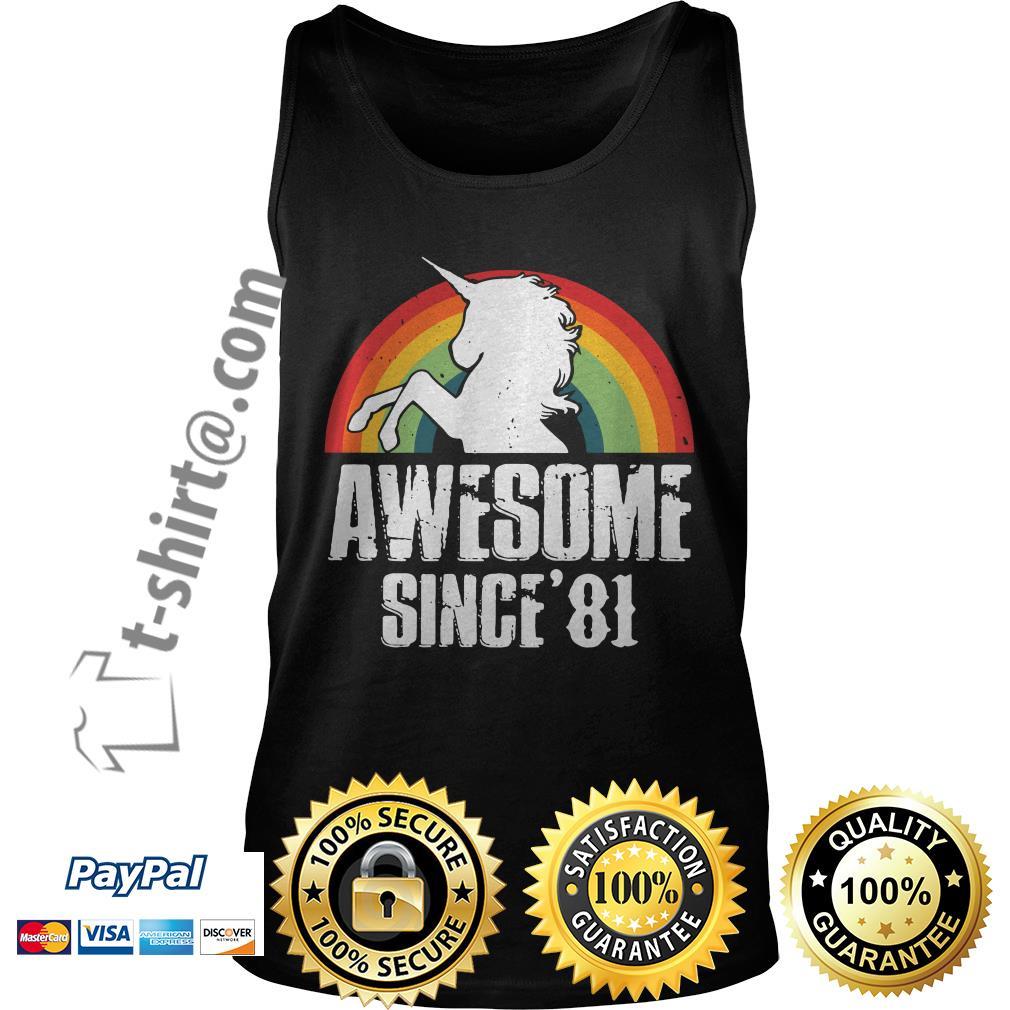 Rainbow Unicorn awesome since'81 Tank top