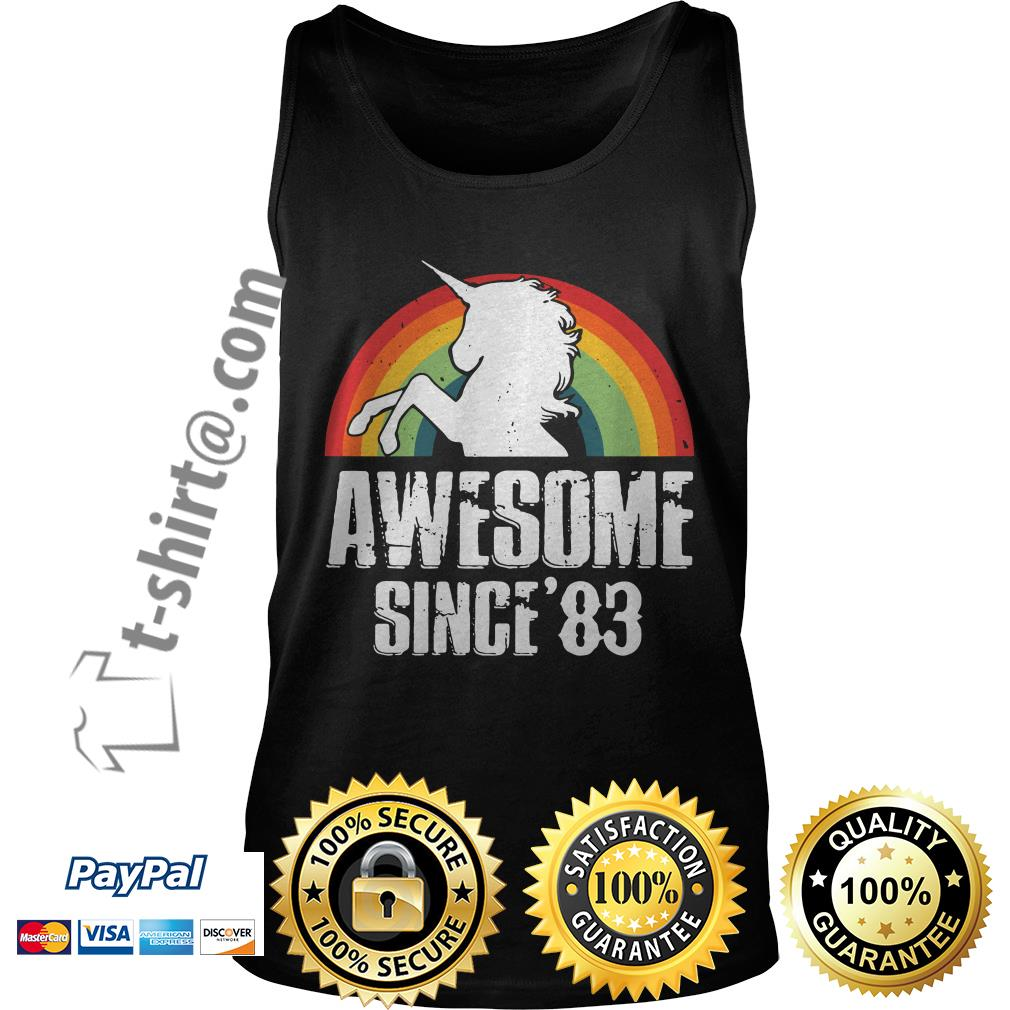 Rainbow Unicorn awesome since'83 Tank top