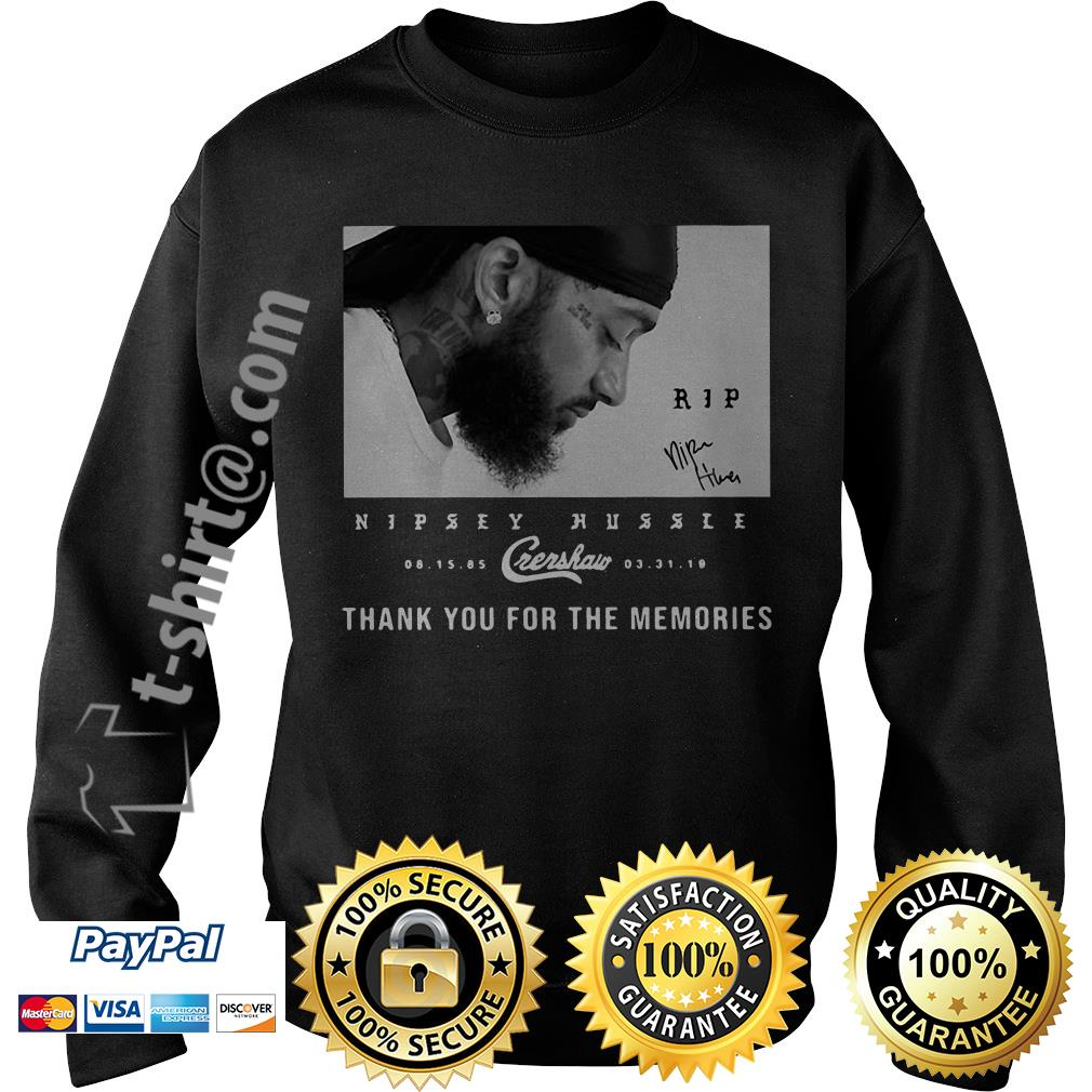 Rip Nipsey Hussle Crenshaw thank you for memories signature Sweater