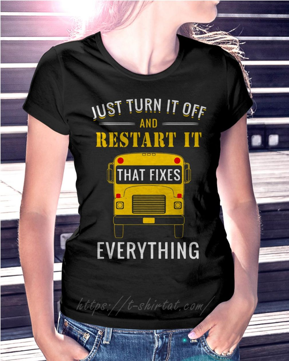 School bus just turn it off and restart it that fixes everything