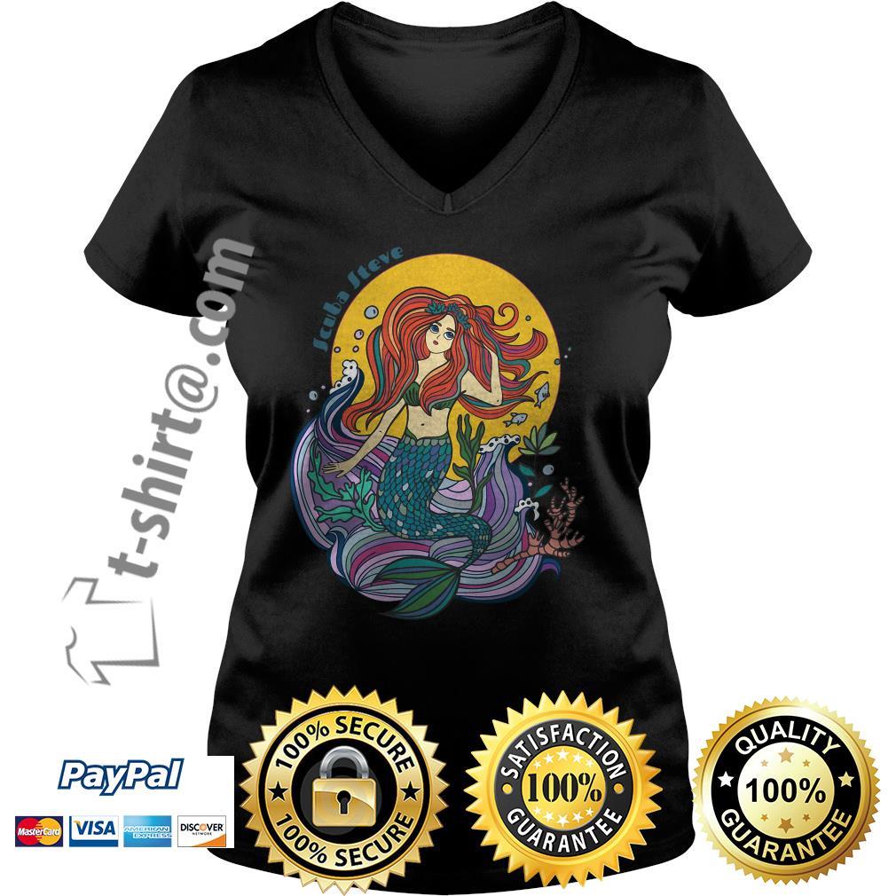 Scuba Steve mermaid V-neck T-shirt