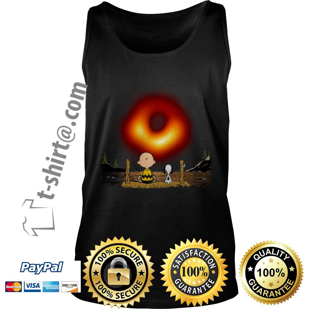 Snoopy and Charlie Brown watching cosmic black hole Tank top