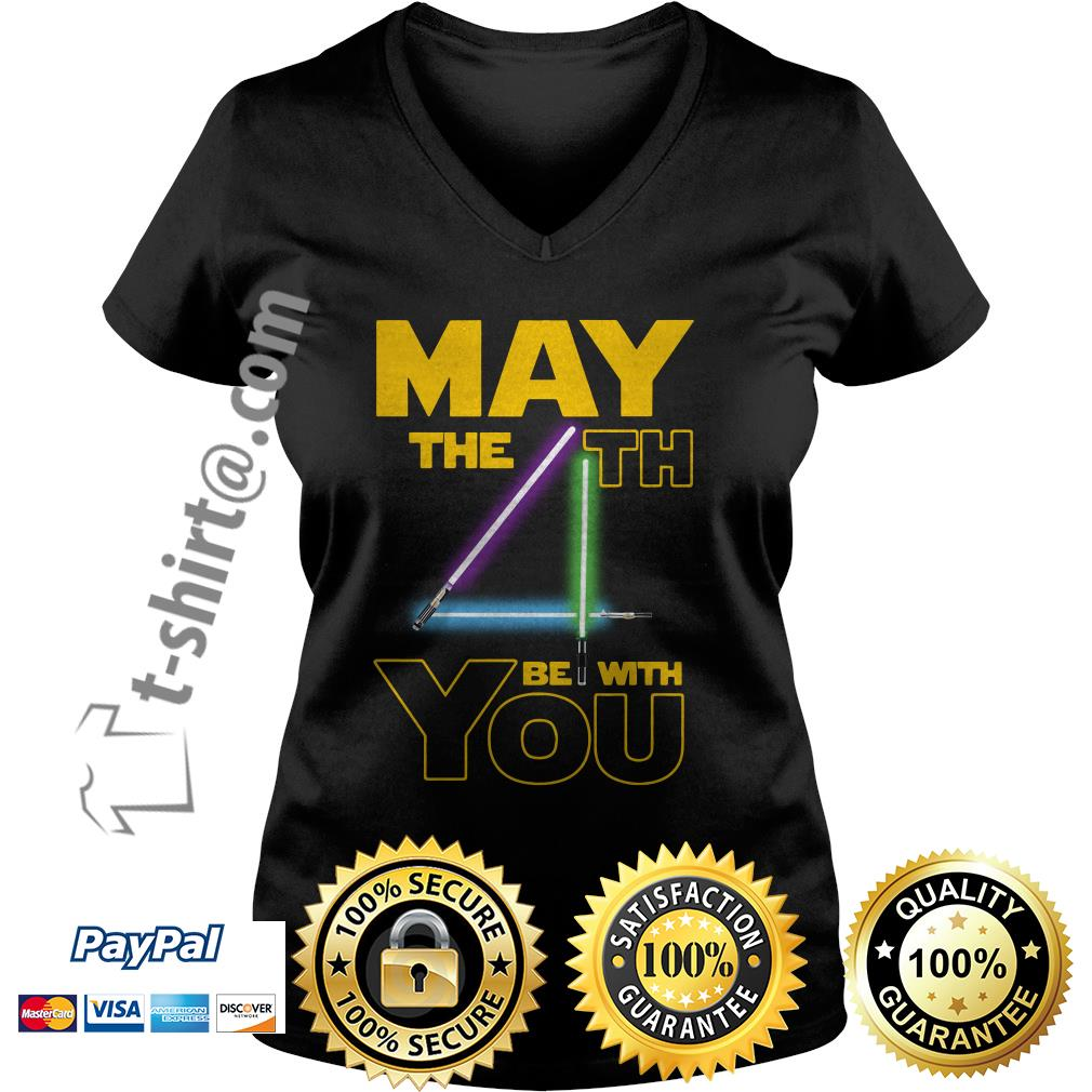 Star wars may the 4th be with you  V-neck T-shirt
