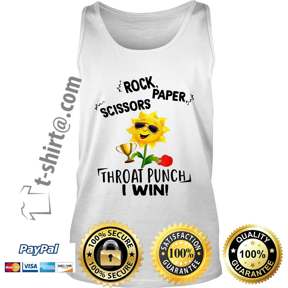 Sunflower rock paper scissors throat punch I win Tank top