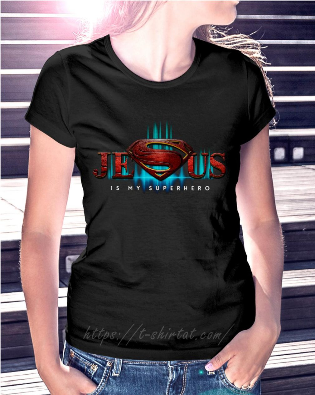 Superman Jesus is my superhero poster