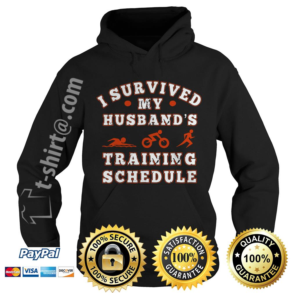 Swim bike run I survived my husband's training schedule Hoodie