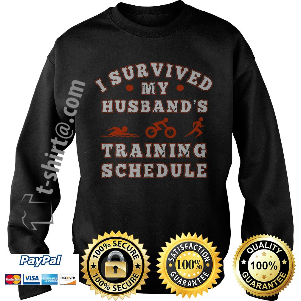 Swim bike run I survived my husband's training schedule Sweater
