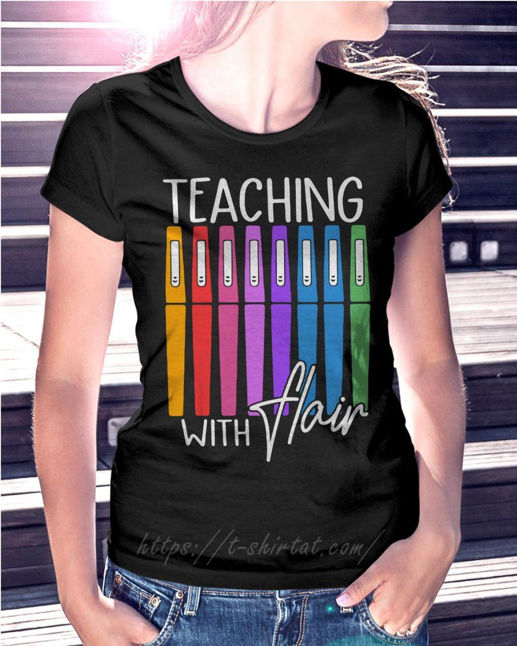 Teaching with flair Ladies Tee