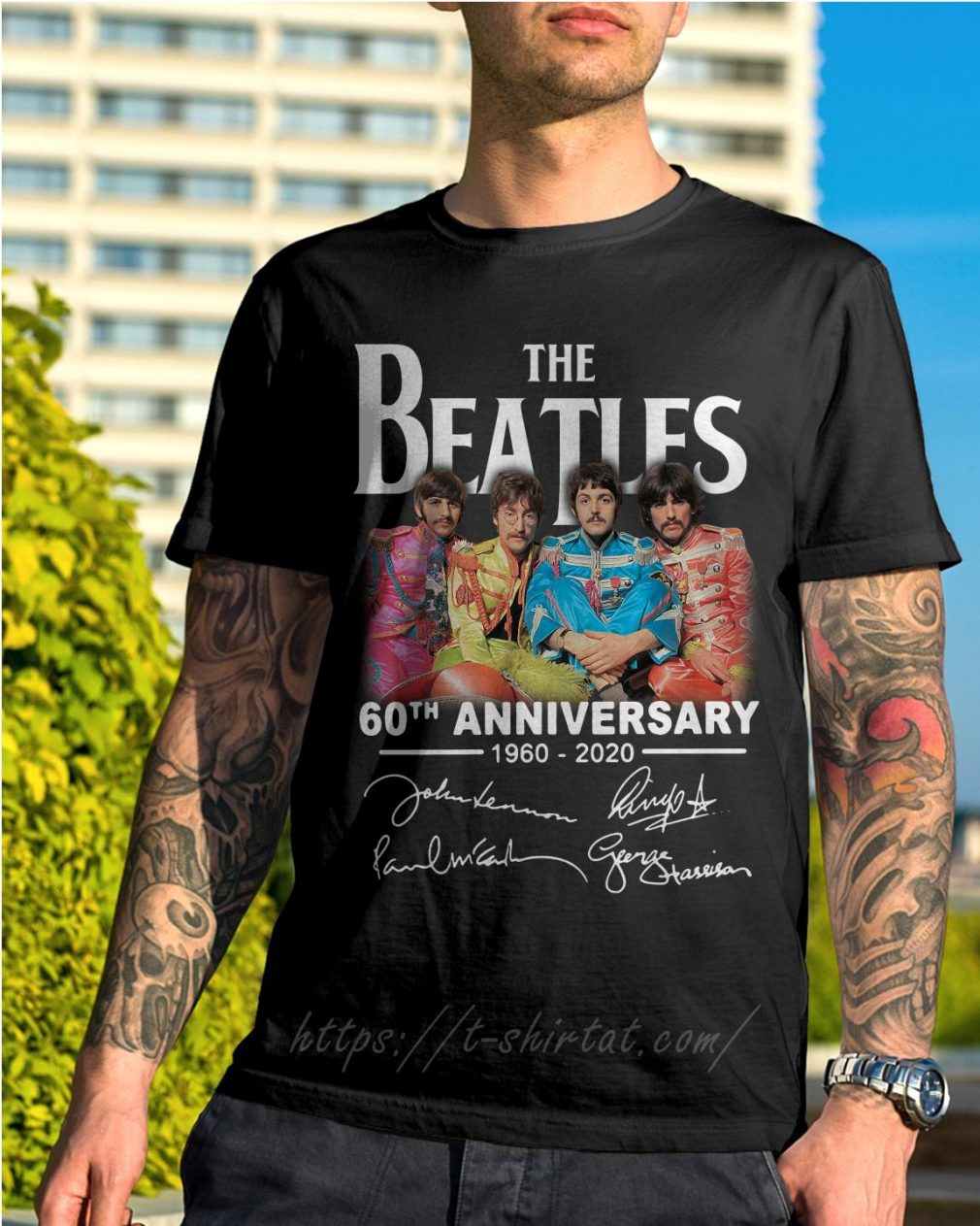 The Beatles 60th anniversary 1960-2020 signature shirt