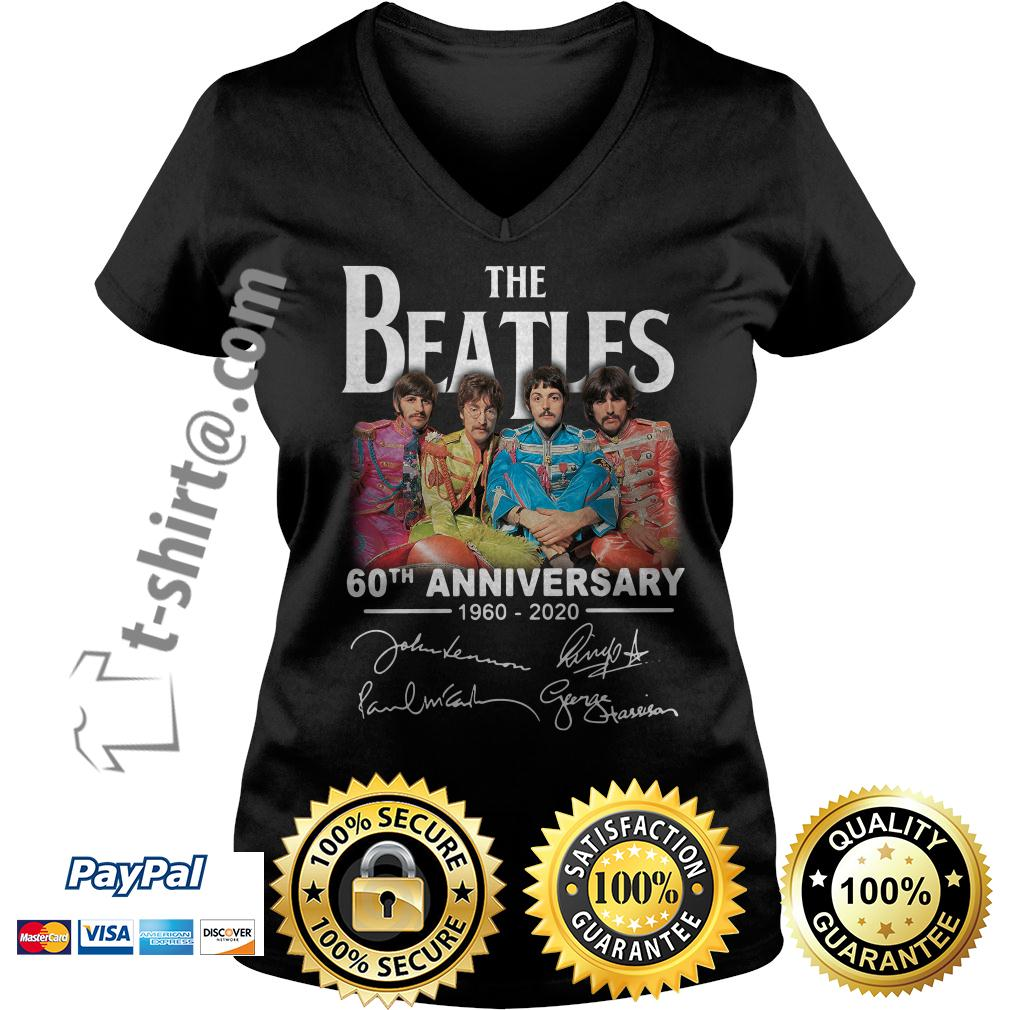 The Beatles 60th anniversary 1960-2020 signature V-neck T-shirt