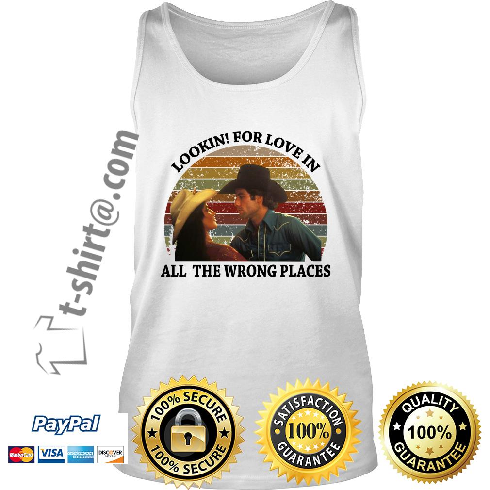 Urban Cowboy lookin for love in all the wrong places vintage Tank top