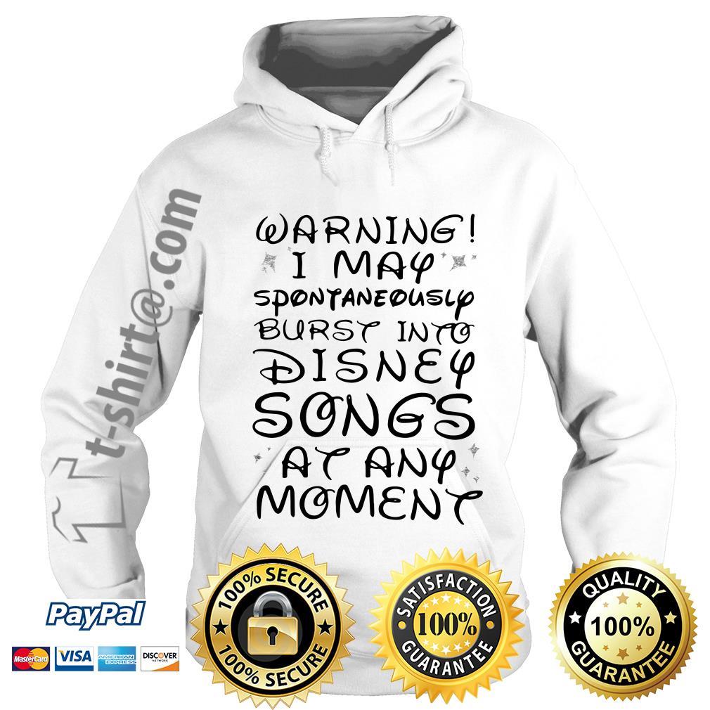 Warning I may spontaneously burst into Disney songs at any moment Hoodie