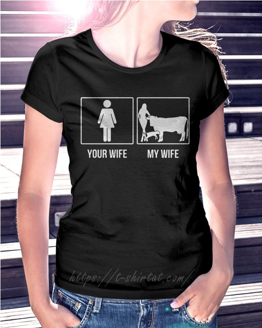 Your wife and my wife farmer cow