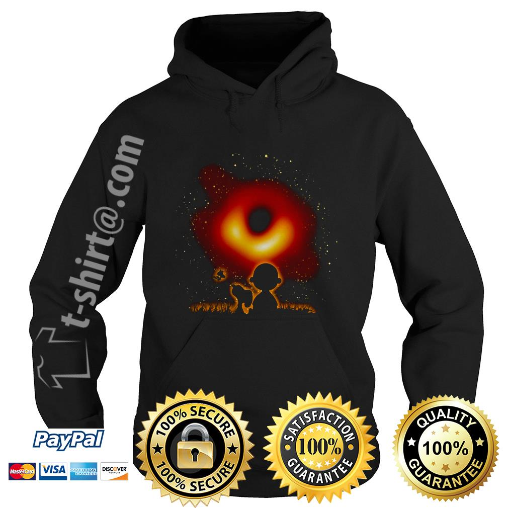 Woodstock Snoopy and Charlie Brown watching black hole 2019 Hoodie