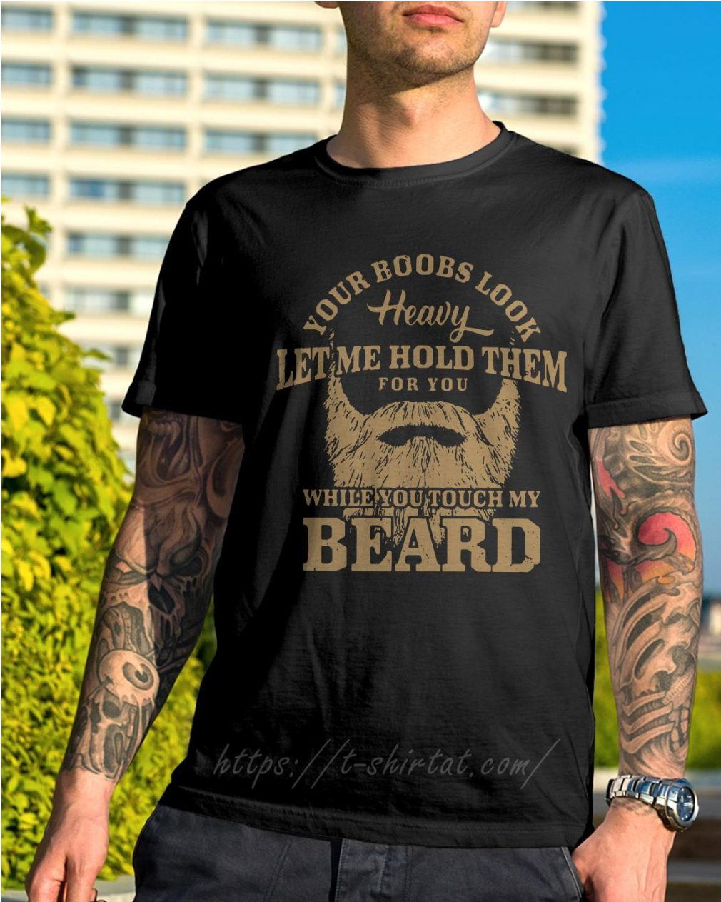 Your books look heavy let me hold them for you while you touch my beard shirt