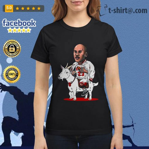 23 Michael Jordan riding goat shirt