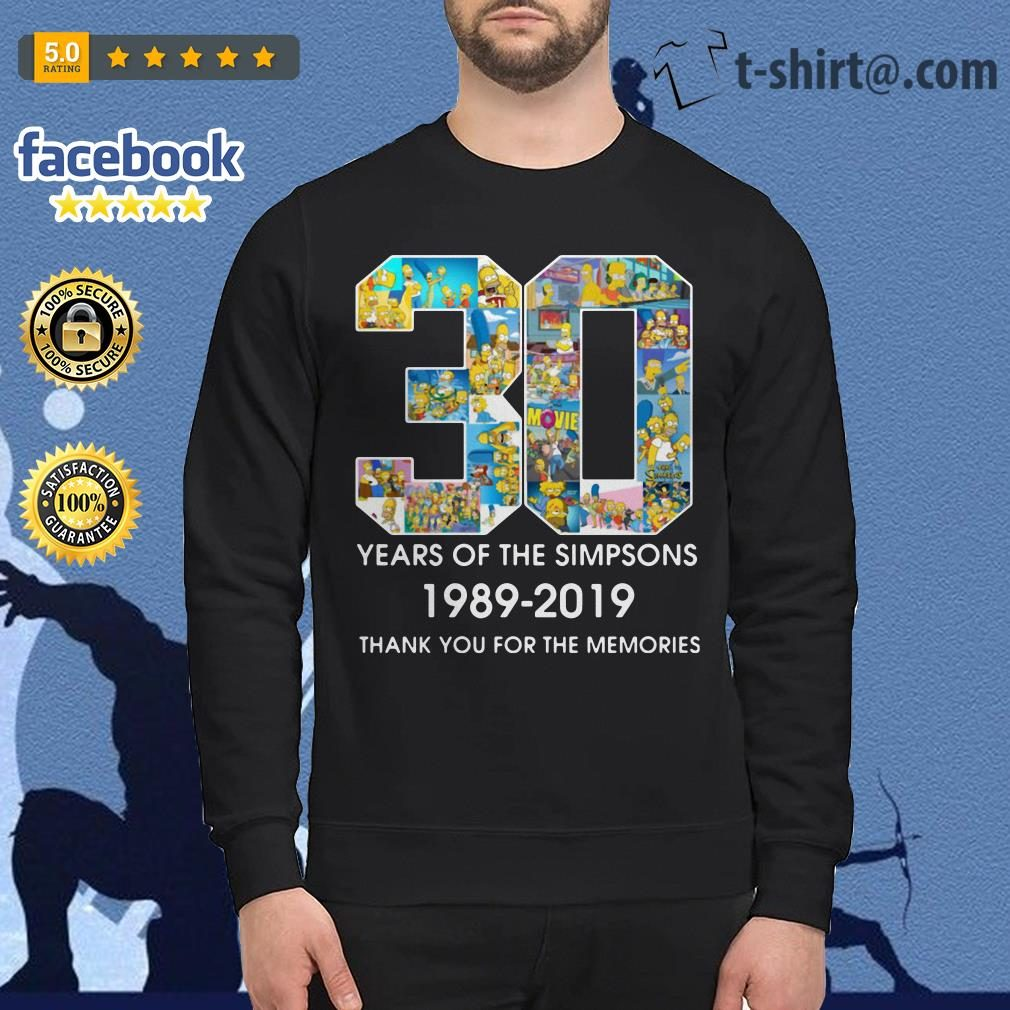 30 Years of The Simpsons 1989-2019 thank you for the memories Sweater