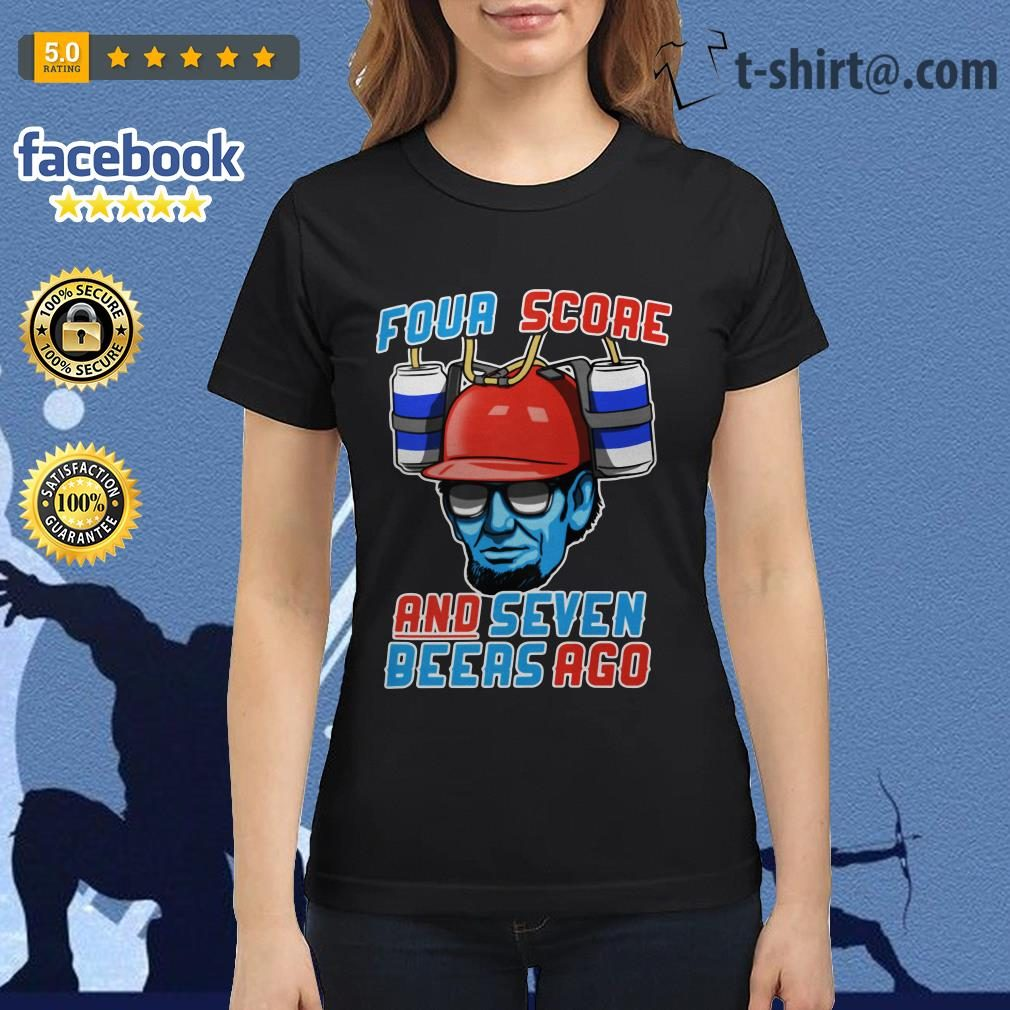 Abe beer four score and seven beers ago Ladies Tee