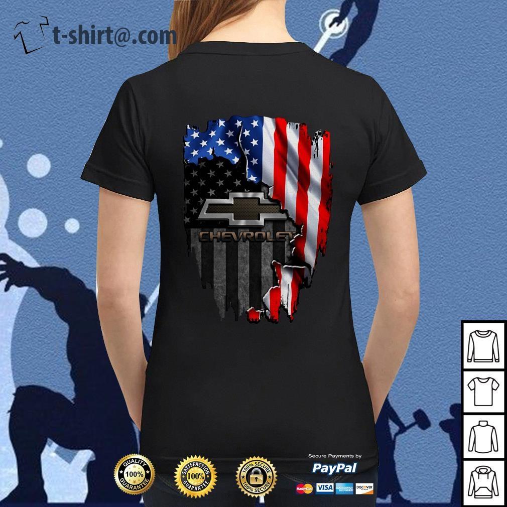 American flag Chevrolet Ladies-tee