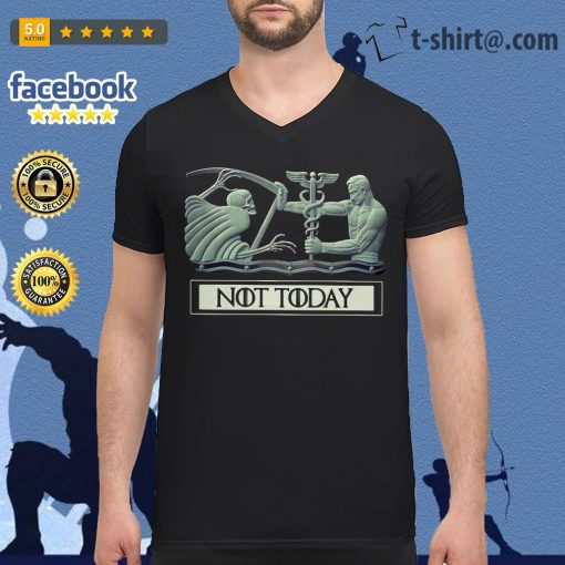 Angel and Devil not today Game of Thrones V-neck T-shirt
