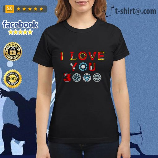 Avengers endgame I love you 3000 times iron man Ladies Tee