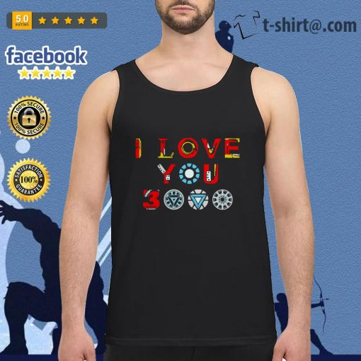 Avengers endgame I love you 3000 times iron man Tank top