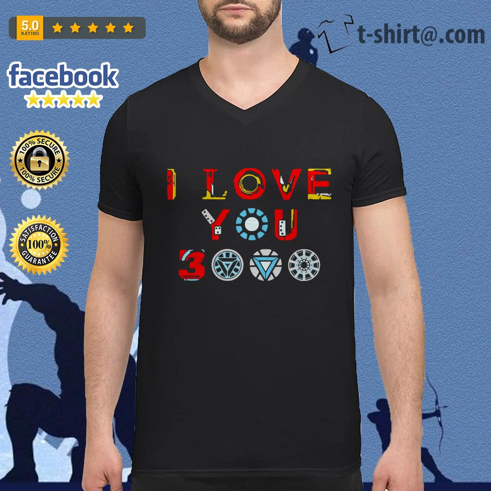 Avengers endgame I love you 3000 times iron man V-neck T-shirt