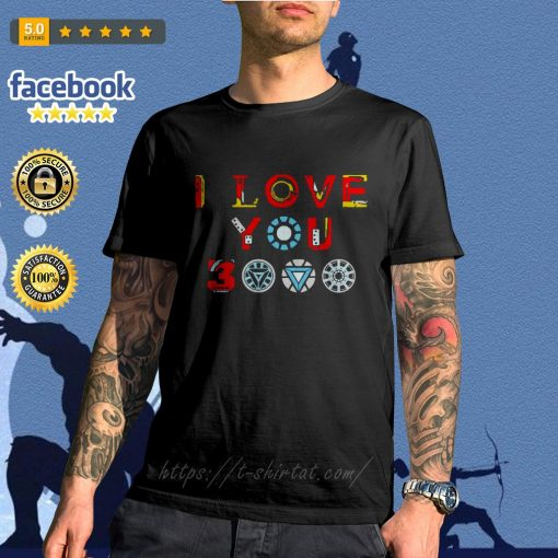 Avengers endgame I love you 3000 times iron man shirt