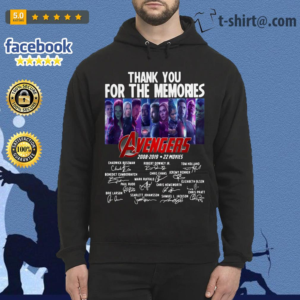 Avengers thank you for the memories 2008-2019 22 movies signature Hoodie