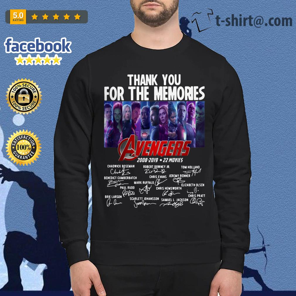 Avengers thank you for the memories 2008-2019 22 movies signature Sweater