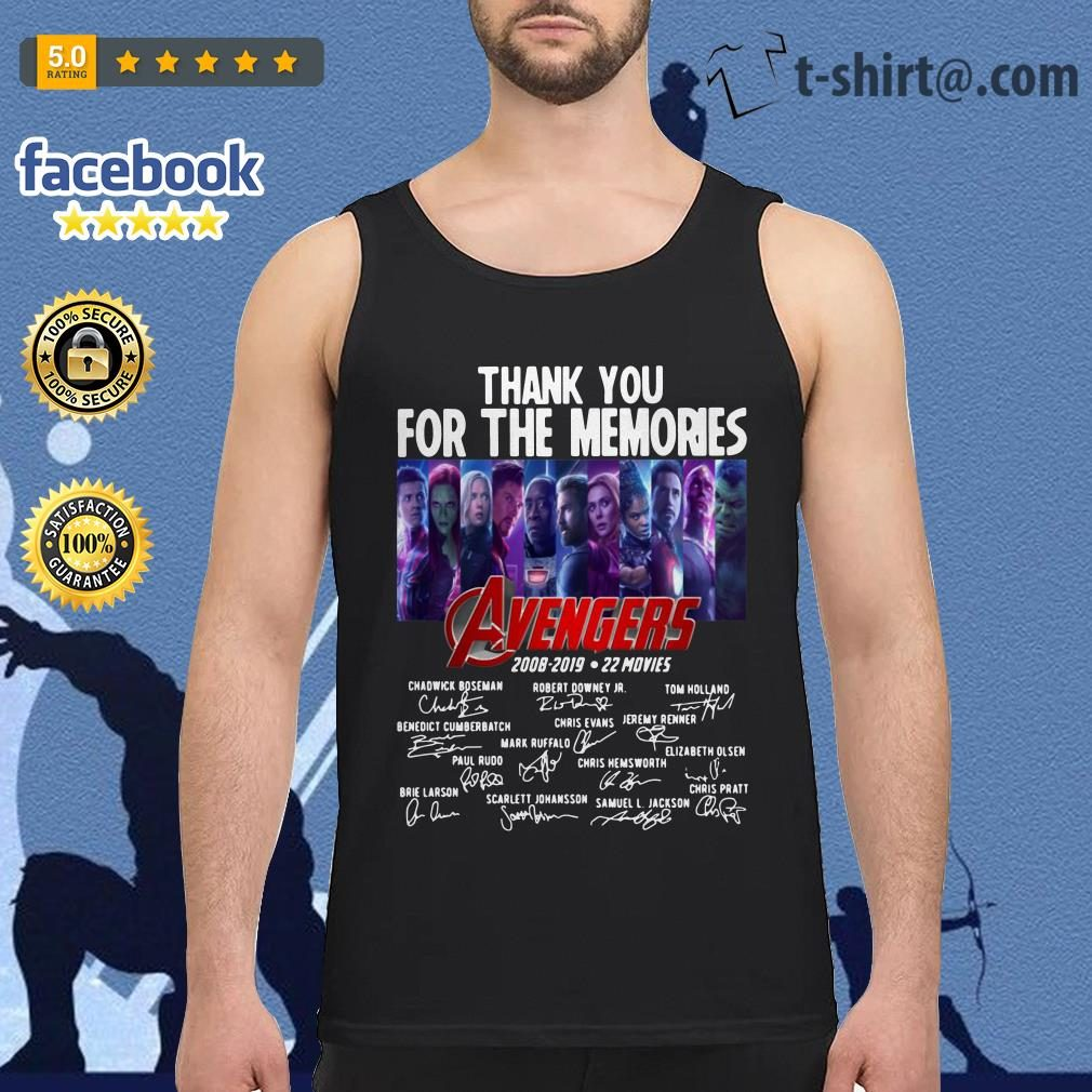 Avengers thank you for the memories 2008-2019 22 movies signature Tank top