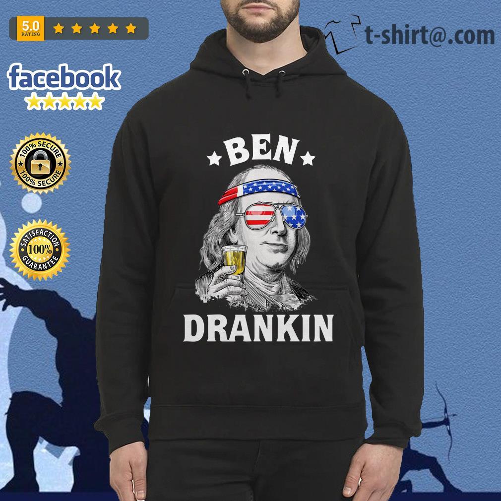 Ben Drankin Benjamin Franklin America flag Hoodie