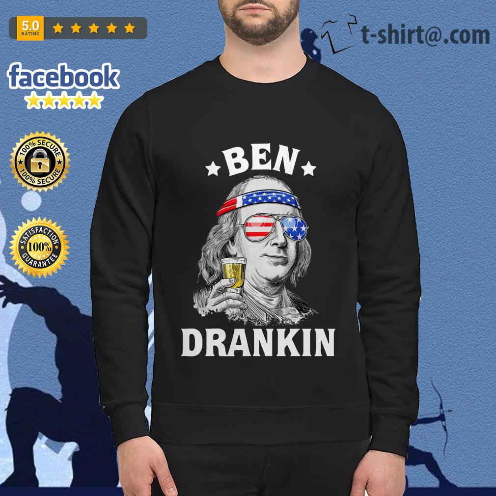 Ben Drankin Benjamin Franklin America flag Sweater