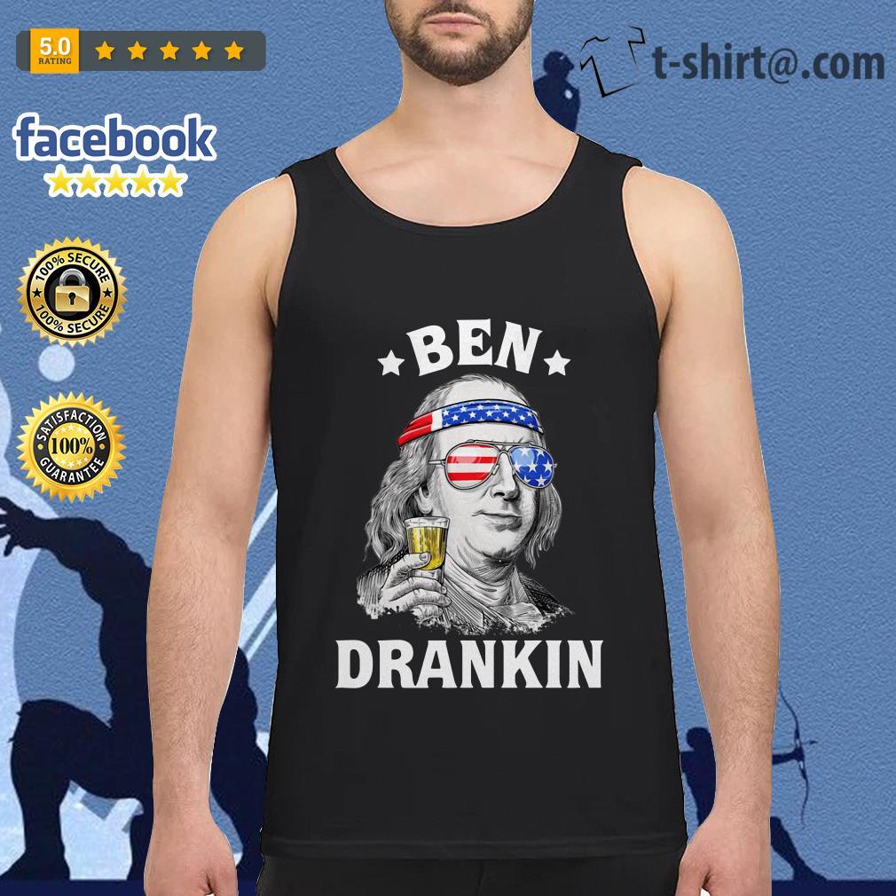 Ben Drankin Benjamin Franklin America flag Tank-top