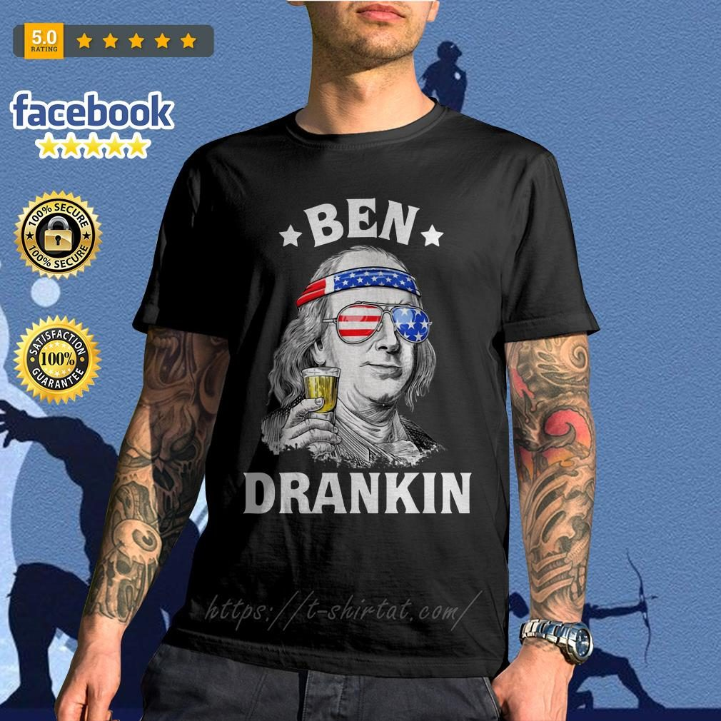 Ben Drankin Benjamin Franklin America flag shirt