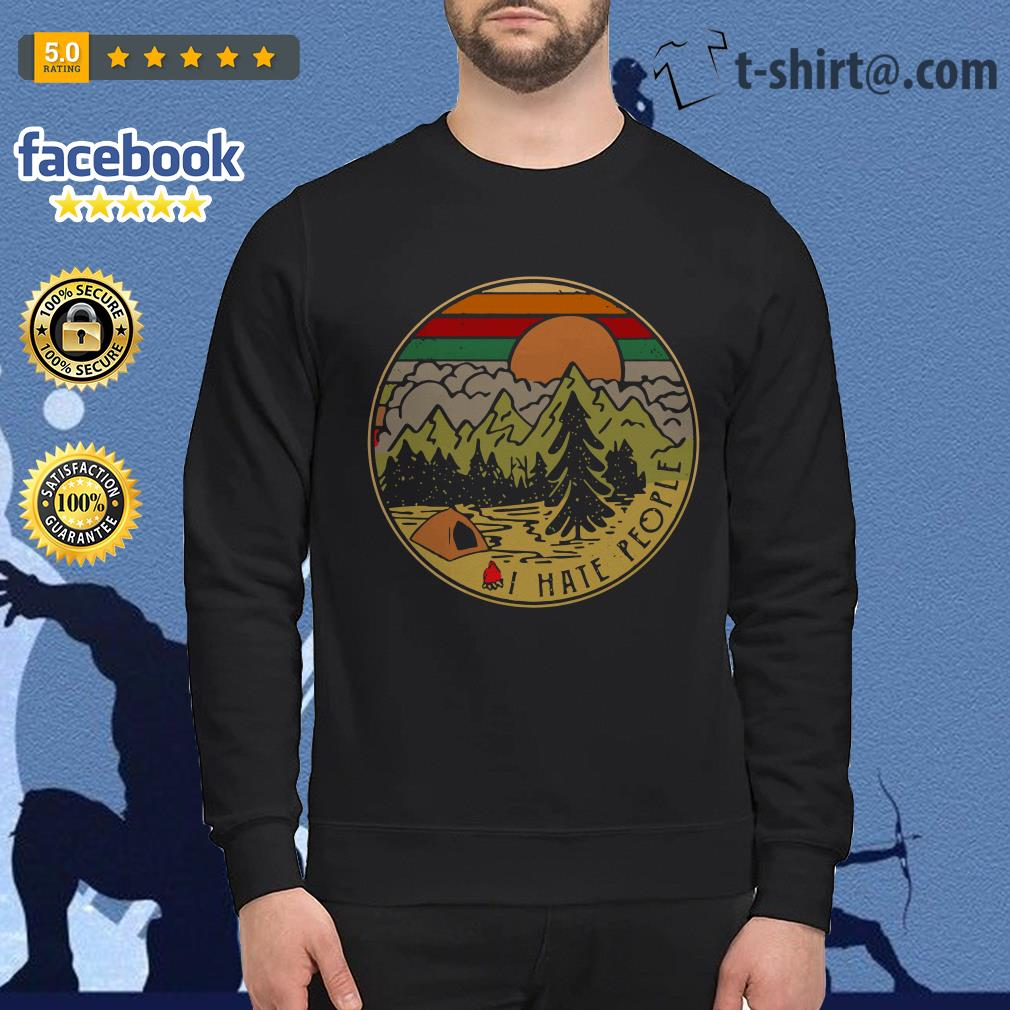 Camping I hate people vintage Sweater